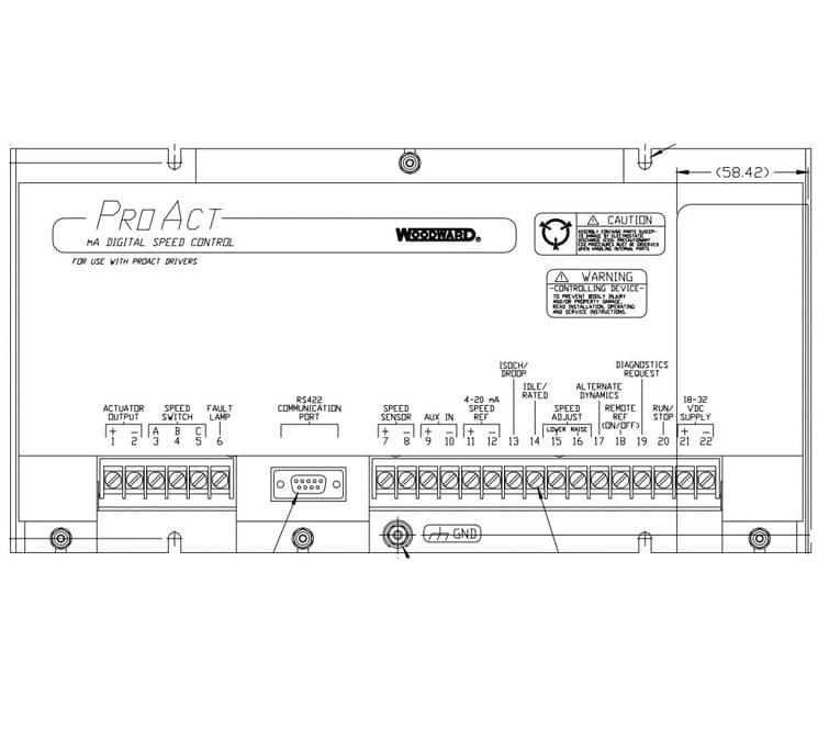module de regulation numerique de vitesse ProAct mA