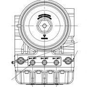 Vue de dessus de l'actuator VariStroke II