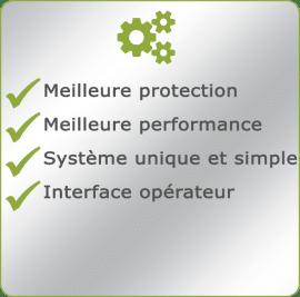 Avantages du Vertex, système de contrôle simple et unique