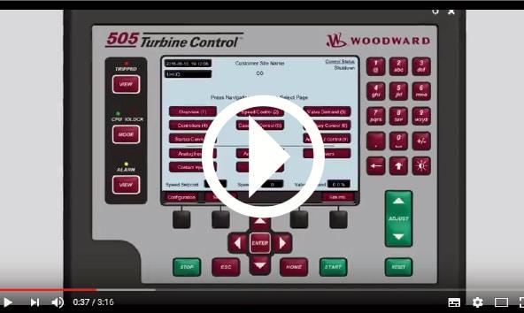 Vidéo en anglais sur le paramétrage des opérations sur la turbine via le 505